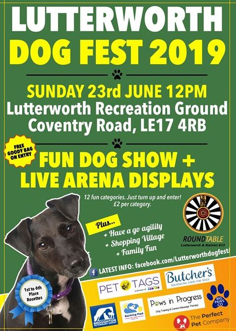 Pawprints Dog Rescue will be at Lutterworth Dog Fest 2019 (Sunday 23/06/2019)